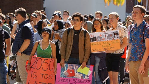 Rutgers students have been increasingly involved in social justice movements such as climate activism. – Photo by Matan Dubnikov