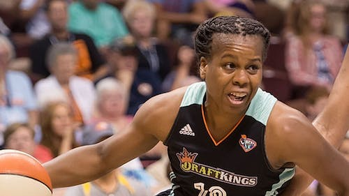 Epiphanny Prince is a Rutgers alumni and WNBA veteran who plays for the Seattle Storm. – Photo by Chris Poss via Swish Appeal