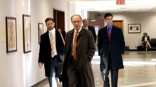 THE DAILY TARGUM / FEBRUARY 2012 | Former Rutgers student Dharun Ravi (back right) walks with his legal representation following a high-profile investigation and trial that found him responsible for bias intimidation against 18-year-old Tyler Clementi, who committed suicide after finding out Ravi broadcasted him have a romantic moment with another man via webcam. – Photo by null