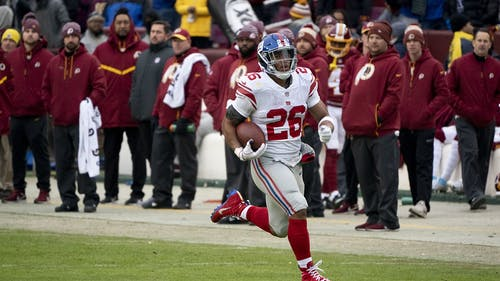 New York Giants running back Saquon Barkley tore his ACL in his team's game against the Chicago Bears. – Photo by Wikimedia