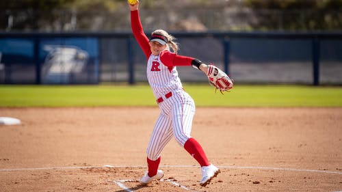 Sophomore pitcher Ashley Hitchcock and the Rutgers softball team will attempt to extend a two-game winning streak in a weekend series at Penn State. – Photo by Scarletknights.com