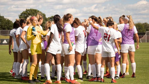 The Rutgers women's soccer team braved the elements to defeat Iowa 1-0, remaining undefeated in Big Ten play and extending their winning streak to seven games.  – Photo by Olivia Thiel