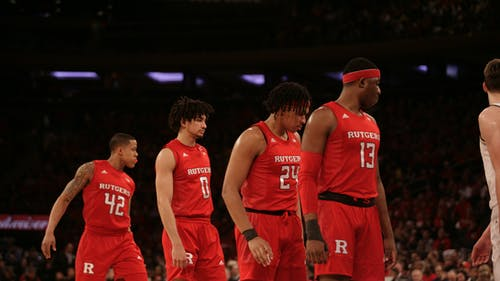 The Rutgers men's basketball team will open its season with guards senior Jacob Young, senior Geo Baker and junior Ron Harper Jr, but not Shaq Carter. – Photo by The Daily Targum