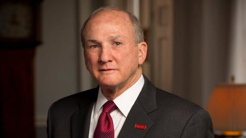 University President Robert L. Barchi said in an announcement today that certain members of the administration will take a four-month pay cut and portions of the University's reserve funds will be utilized to help make up financial losses due to the coronavirus disease (COVID-19). – Photo by Rutgers.edu