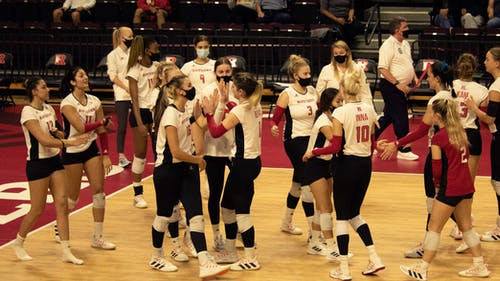 The Rutgers volleyball team faces two ranked opponents this weekend in Penn State and Ohio State.  – Photo by Olivia Thiel