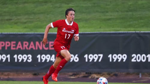 Sophomore forward Ola Maeland comes off a 2-point performance in his last game as the Rutgers men's soccer team is set to play Lehigh.  – Photo by Rutgers Men's Soccer / Twitter