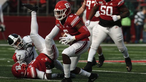 The Rutgers football team's depth chart lists first and second string student-athletes at each position going into Saturday's game, – Photo by Kelly Carmack
