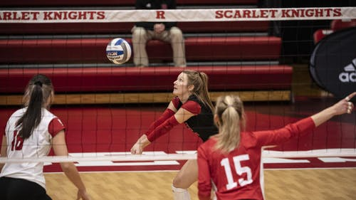 Sophomore libero Madyson Chitty averaged 4.91 digs per set in Rutgers' tournament weekend. – Photo by Ben Solomon / Rutgers Athletics