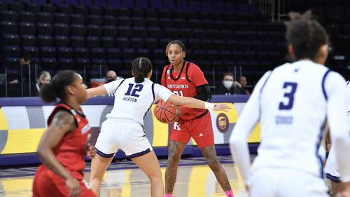 Senior forward Tekia Mack and the Rutgers women's basketball team will attempt to extend their winning streak to three when they face Purdue.  – Photo by Rutgers Women's Basketball / Twitter