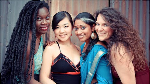 Women of the World is an a cappella group that features four women from different countries: Ayumi Ueda, Annette Philip, Du00e9bo Ray and Giorgia Renosto.