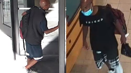 The adult male perpetrator is suspected in multiple burglaries at Rutgers affiliated buildings across several campuses. – Photo by Courtesy of Rutgers Crime Alert