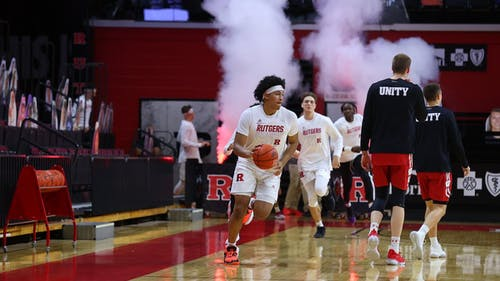 Junior guard Ron Harper Jr. scored 9 points in 30 minutes of play. – Photo by Rutgers Men's Basketball / Twitter
