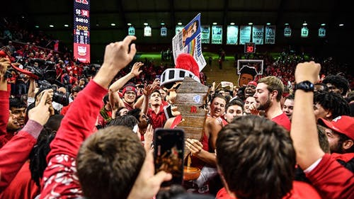 After winning their last game against Seton Hall in 2019, the Rutgers men's basketball team will face their rival again on Dec. 12 at the Prudential Center.  – Photo by Scarletknights.com