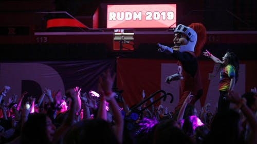 Rutgers University Dance Marathon has been growing steadily over the years. This year there were more than 1,800 dancers, the highest number in the marathon's history. Each dancer was required to raise a minimum amount of $350. – Photo by Dustin Niles