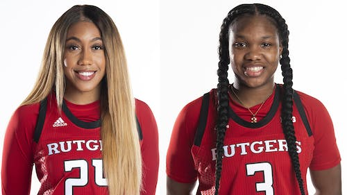 Senior guard Arella Guirantes was named the Preseason Big Ten Co-Player of the Year by the conference's coaches and true freshman guard Diamond Johnson was named to the Watch List for the Nancy Lieberman Award. – Photo by Scarletknights.com