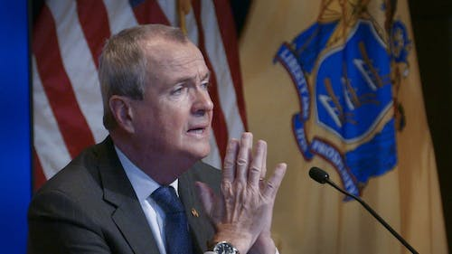 Gov. Phil Murphy (D-N.J.) issued another executive order during the press conference which prohibits all internet and phone services from being shut off until 30 days after the coronavirus disease (COVID-19) health emergency ends and requires the reconnection of any service that was disconnected due to nonpayment after March 16th. – Photo by Michael Mancuso
