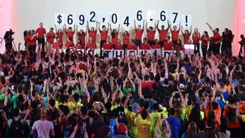 April 2015 | Rutgers University Dance Marathon 2015 participants raised a record breaking final total of $692,046.67 for the Embrace Kids Foundation.