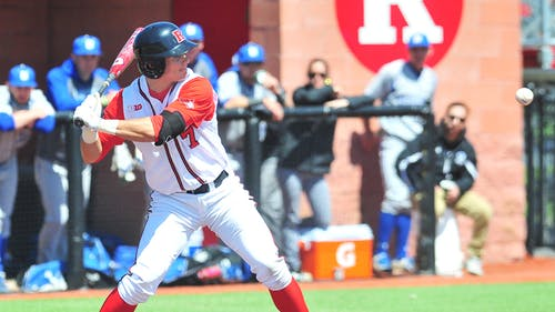 Senior first baseman Joe D'Annunzio says that capitalizing on scoring opportunities will be crucial for the team's success against the Nittany Lions in the weekend series, May 1-3. – Photo by Luo Zhengchen
