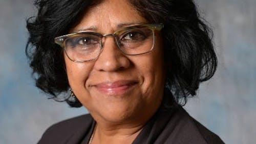 "Radhika Balakrishnan, a professor in the Department of Women's and Gender Studies, has helped send students to the United Nations every year through her ""Feminist Advocacy for Women's Rights through the United Nations"" class.  – Photo by Rutgers.edu"