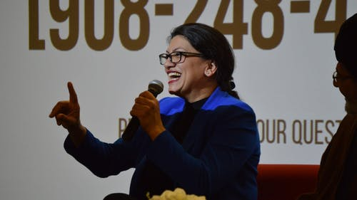 Rep. Rashida Tlaib (D-Mich.) attended the event, which was organized by Muslims for Peace. – Photo by Benjamin Chelnitsky