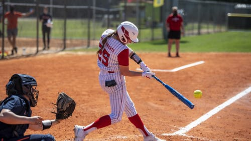 Graduate student infielder Kiana Workman provided multiple RBIs in the weekend series as the Rutgers softball team won 1 of their 4 games against Ohio State.  – Photo by Scarletknights.com