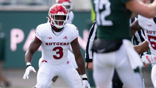 Senior linebacker Olakunle Fatukasi anchored the Rutgers defense on Saturday. – Photo by Rutgers University Athletics
