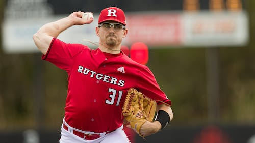 Senior pitcher Brent Teller pitched six innings in game three while giving up one unearned run. – Photo by Rutgers Baseball / Twitter