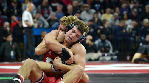Senior 165-pounder Brett Donner is being sent to the U23 and United World Wrestling (UWW) Junior Nationals.  – Photo by Kelly Carmack / Photo Editor