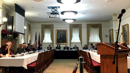 The Rutgers Endowment Justice Collective attended the Board of Governors meeting on Feb. 18.