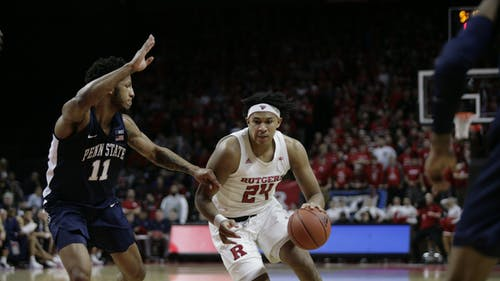 Junior guard Ron Harper Jr. posted a double-double in last year's Challenge against Pittsburgh. – Photo by The Daily Targum