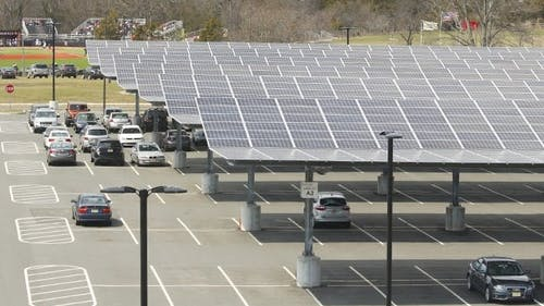Rutgers' solar panels, located on Livingston campus, supply six percent of the campus' renewable energy. In total, renewable energy makes up 30 percent of all energy use on campus.