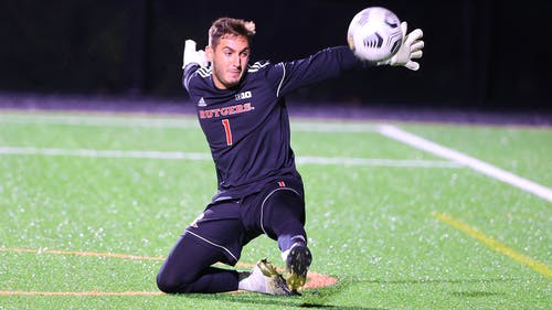 Junior goalkeeper Oren Asher has 5 shutouts in net so far this year for the Scarlet Knights. – Photo by Rutgers Men's Soccer / Twitter