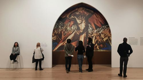 """Pictured above is a reproduction of """"Prometheus"""" by José Clemente Orozco, a painting that shows the story of a Greek Titan. – Photo by Photo by Courtesy of Rhea Swain   The Daily Targum"""