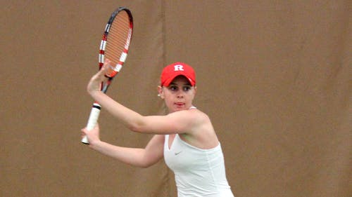 Freshman Chloe Lee was defeated in strait sets by Indiana's Shannon Murdy April 12. The Knights suffered defeat as a team as well, 6-1.