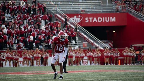 Senior wide receiver Bo Melton opened up the scoring as the Rutgers football team defeated Delaware 45-13, improving to 3-0 on the season.  – Photo by Emma Garibian