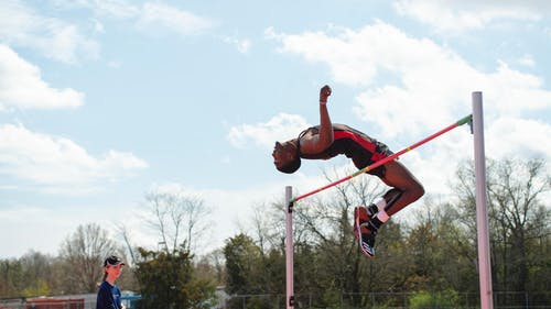 Fifth-year senior jumper Perry Christie secured a gold medal at the Big Ten Indoor Championship as the Rutgers track and field team competed at the SPIRE Academy.  – Photo by Scarletknights.com