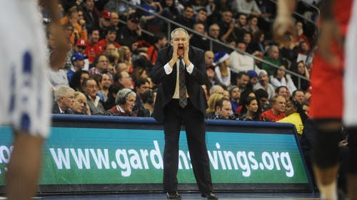 Head coach Steve Pikiell will coach in his first Big Ten conference game this Tuesday, when Rutgers takes on No. 14 Wisconsin at the Kohl Center in Madison. – Photo by Dimitri Rodriguez