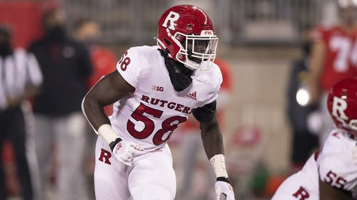 Sophomore linebacker Mohamed Toure looks to add onto his program-leading 4.5 sacks from last season as the Rutgers football team prepares for their season opener next week.  – Photo by Ben Solomon / Scarletknights.com
