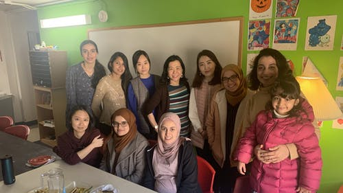 Hsiu-Fen Lin, a doctoral candidate, meets with some of the international women living on Busch campus every Wednesday, and each one brings a breakfast dish from their culture. – Photo by Courtesy of Tre Anglin