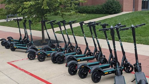 Jack Molenaar, senior director of Rutgers Transportation Services, said electric scooters can help students travel on campus without having to catch a bus.  – Photo by Twitter