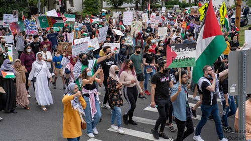 The recent March for Palestine event drew over 1,000 individuals to Rutgers and featured speakers from Rutgers organizations, local groups and the community. – Photo by Courtesy of Ashe Husein