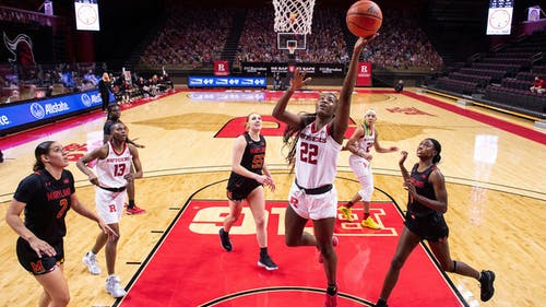 Freshman center Sakima Walker, fifth-year senior Arella Guirantes and sophomore forward Tyia Singleton have not played since Jan. 3 due to coronavirus disease (COVOD-19) within the program. – Photo by Rutgers Womens Basketball / Twitter