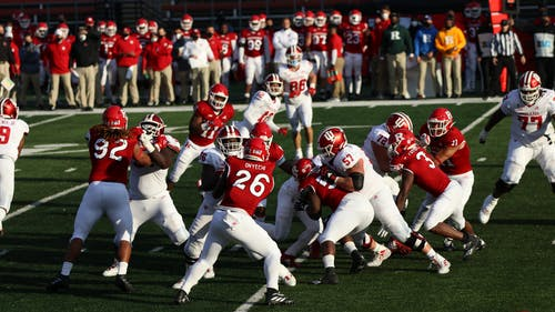 The Rutgers football team will play for its second win on Saturday and to rise in the Big Ten East standings. – Photo by Kelly Carmack / Photo Editor