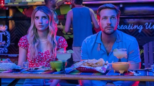 """Emma Roberts and Luke Bracey star in the new movie """"Holidate"""" as love interests. The movie is less of a holiday movie and more of a romantic comedy.  – Photo by Glamour Fashion / Twitter"""