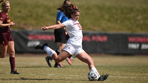 Freshman forward Allison Lowrey provided a game-tying goal, but the Rutgers women's soccer team lost in penalties to Clemson, ending its season with the NCAA Tournament loss.  – Photo by Scarletknights.com