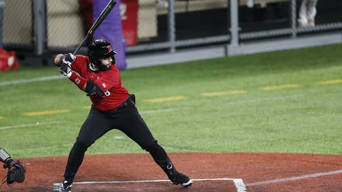 Sophomore first baseman Chris Brito and the Rutgers baseball team are set for a weekend series with Northwestern, looking to improve on the one win in last week's matchup with Penn State.  – Photo by Scarletknights.com