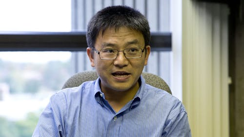 Shengkan Jin, associate professor in the Department of Pharmacology, is a part of Robert Wood Johnson Medical School's recent discovery of a medicine to treat Type 2 Diabetes . – Photo by Yangeng Li