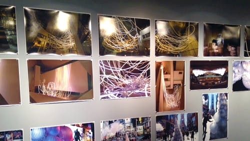 """Grimanesa Amorós' solo exhibition is currently featured in the Women Artists Series Galleries in Mabel Smith Douglass Library as part of a larger multi-purpose year project, """"Momentum:Women/Art/Technology."""""""