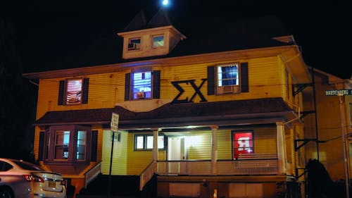 In accordance with an official memorandum signed on Nov. 13, the Rutgers chapter of Sigma Chi is no longer authorized to display the organization's letters or operate out of the fraternity house on Hardenberg Street. – Photo by Photo by Dimitri Rodriguez | The Daily Targum