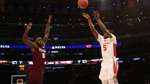 Junior guard Mike Williams was named a co-captain of the Rutgers men's basketball team by head coach Steve Pikiell Wednesday afternoon. He's thrived in his role as the Scarlet Knights' sixth man this season, one he volunteered for early in the year. – Photo by Dimitri Rodriguez